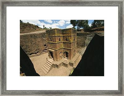 The Rock-hewn Church Of Bete Giorgis Framed Print