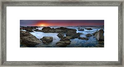 The Rock Labyrinth Framed Print