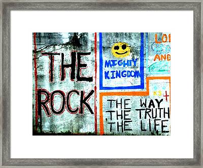 The Rock Framed Print by Michael L Kimble