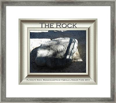 The Rock, Plymouth Rock Framed Print