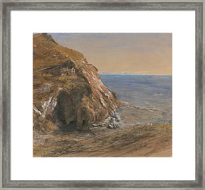 The Rock Slip Near Boscastle Framed Print by Samuel Palmer