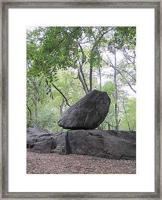 The Rock Framed Print by ThiART ThiART