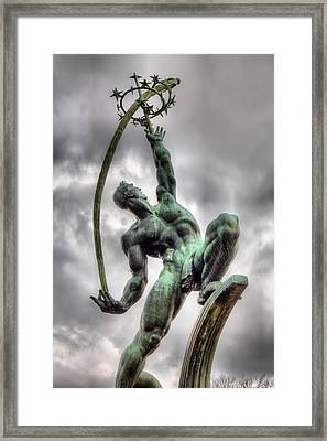 The Rocket Thrower Framed Print
