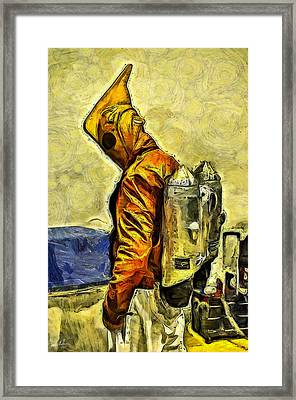 The Rocketer Oil Framed Print by Tommy Anderson