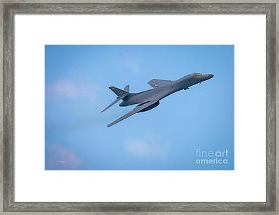 The Rockwell B-1 Lancer Bomber Framed Print by Rene Triay Photography