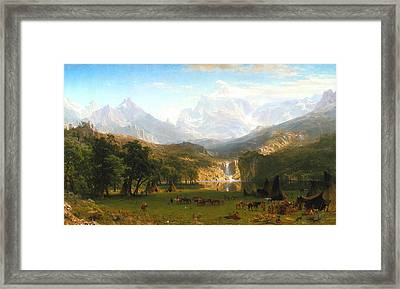 The Rocky Mountains, Lander's Peak, C. 1863 Framed Print by Albert Bierstadt
