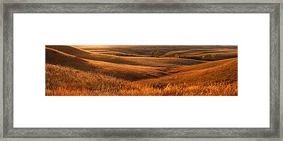 The Rolling Hills Of Konza Prairie Framed Print by Jim Richardson