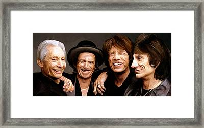 Framed Print featuring the painting The Rolling Stones by James Shepherd