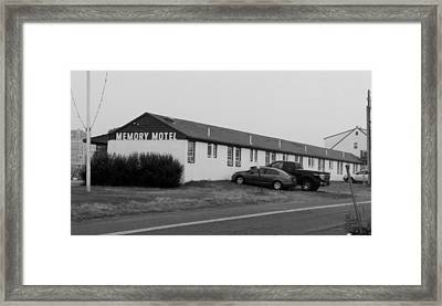 The Rolling Stones' Memory Motel Montauk New York Framed Print by Rob Hans