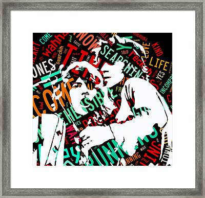 The Rolling Stones Time Is On My Side Framed Print