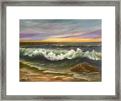 The Rolling Surf Framed Print