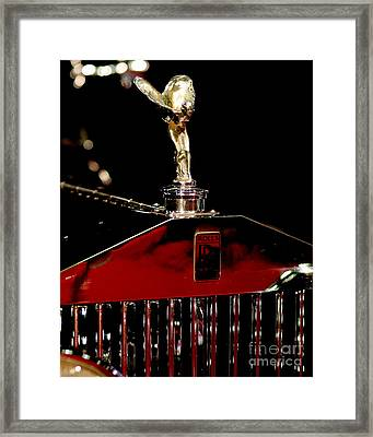 The Rolls Royce 2 Framed Print by Wingsdomain Art and Photography