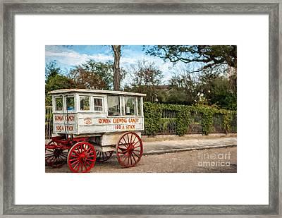 The Roman Candy Cart-nola Framed Print by Kathleen K Parker