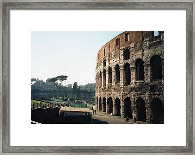 The Roman Colosseum Framed Print by Marna Edwards Flavell