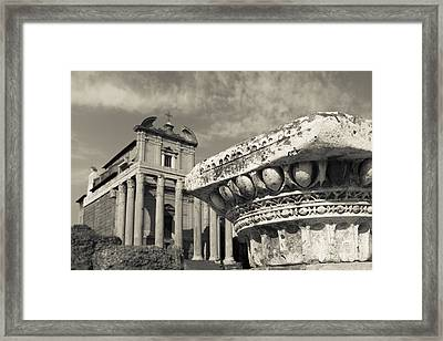 The Roman Forum Framed Print by Edward Fielding