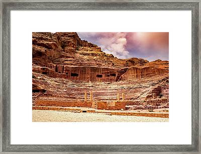 The Roman Theater At Petra Framed Print