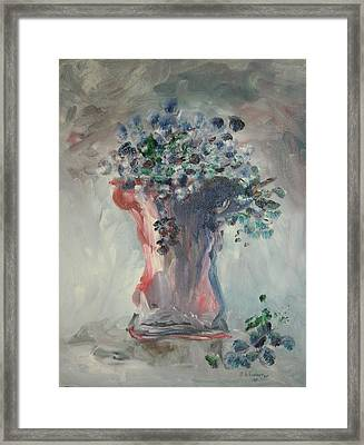 The Roman Vase Framed Print by Edward Wolverton