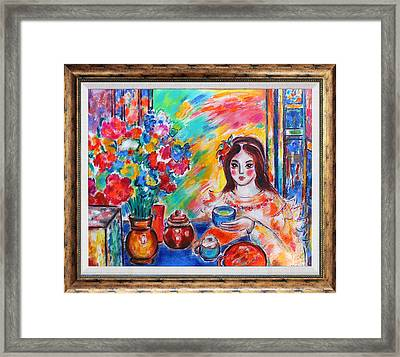 The Romanian Blouse  Framed Print by Katherine Arion