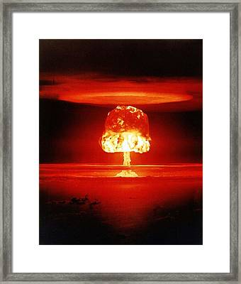 The Romero Shot, Was A Hydrogen Bomb Framed Print