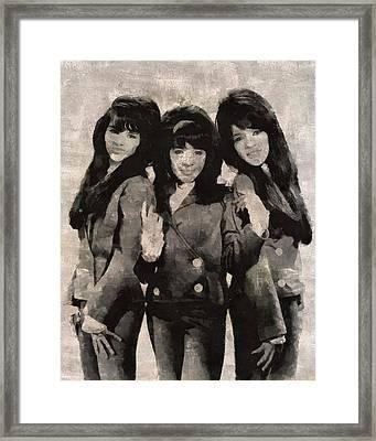 The Ronettes Framed Print by Mary Bassett