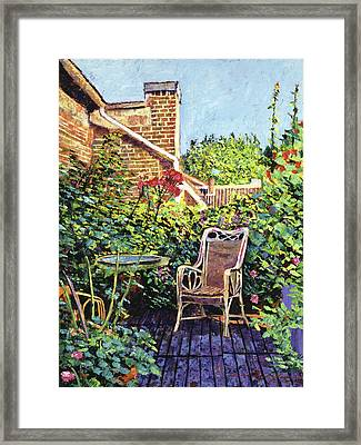 The Roof Garden Framed Print by David Lloyd Glover