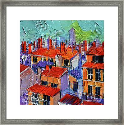 The Rooftops Framed Print by Mona Edulesco