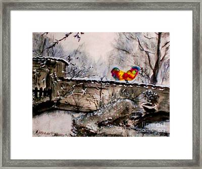 The Rooster Framed Print