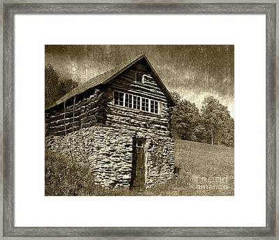 Framed Print featuring the photograph The Root Cellar by Pete Hellmann