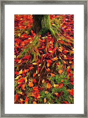 The Root Of Fall Framed Print