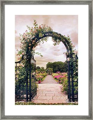 The Rose Allee Framed Print by Jessica Jenney