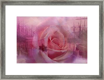 The Rose And The Sea Framed Print