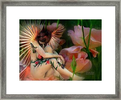 The Rose Fairy Framed Print by Carol Cavalaris