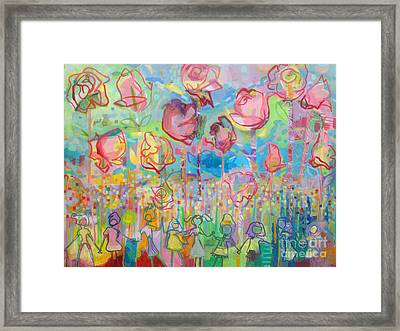 The Rose Garden, Love Wins Framed Print by Kimberly Santini