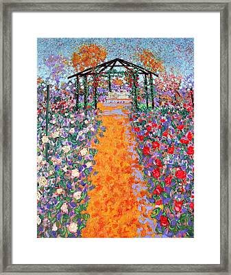 The Rose Garden Framed Print by Richard Tuvey