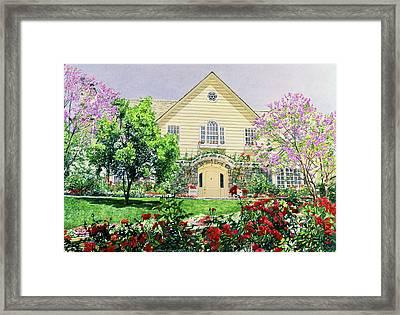 The Rose House Framed Print