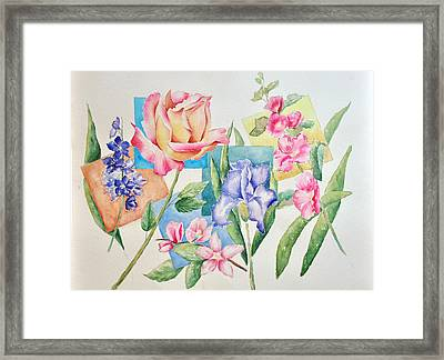 The Rose Is Queen Framed Print by Sandy Fisher
