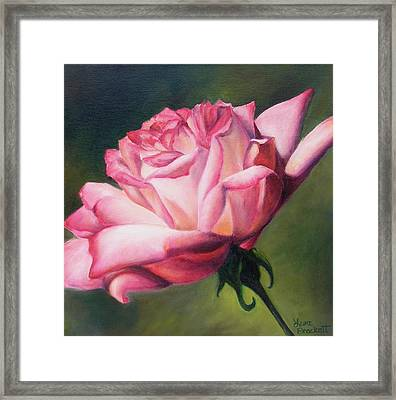 Framed Print featuring the painting The Rose by Lori Brackett