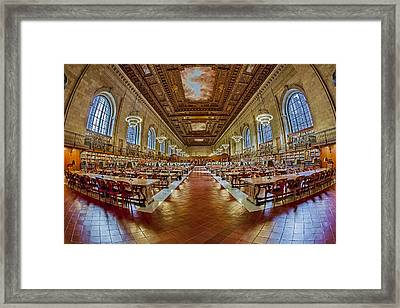 The Rose Main Reading Room Nypl Framed Print by Susan Candelario