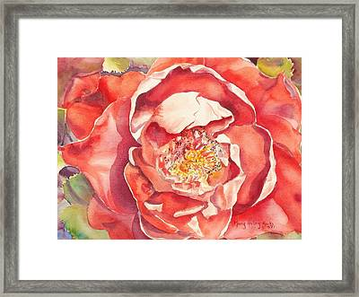 Framed Print featuring the painting The Rose by Mary Haley-Rocks
