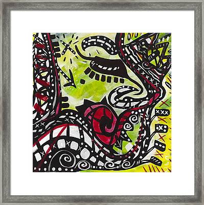 The Rose Moustache Framed Print by Gdm