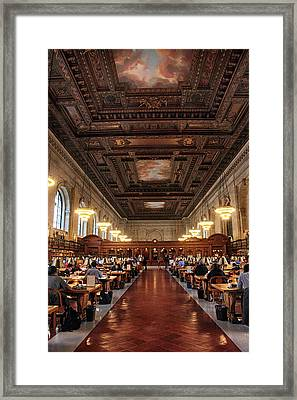Framed Print featuring the photograph The Rose Reading Room II by Jessica Jenney