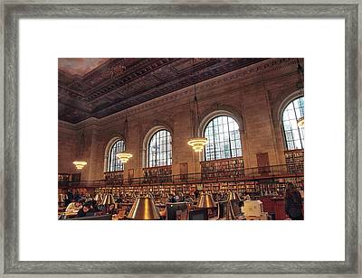 Framed Print featuring the photograph The Rose Reading Room by Jessica Jenney