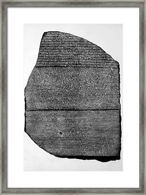 The Rosetta Stone, Basalt Slab Framed Print
