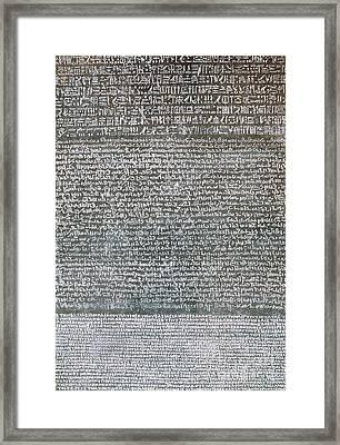 The Rosetta Stone Framed Print