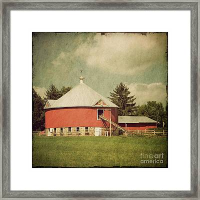 The Round Barn Framed Print
