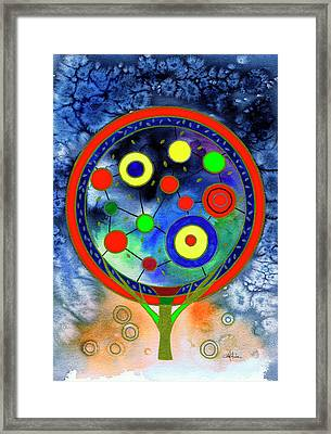 The Round Tree Framed Print by Isabel Salvador