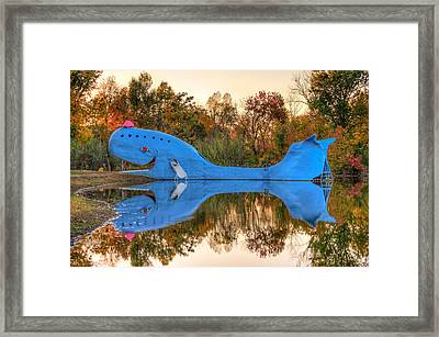 Framed Print featuring the photograph The Route 66 Blue Whale - Catoosa Oklahoma by Gregory Ballos