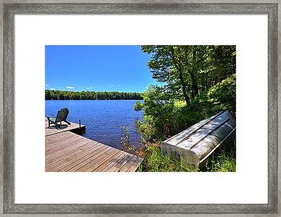 Framed Print featuring the photograph The Rowboat On West Lake by David Patterson