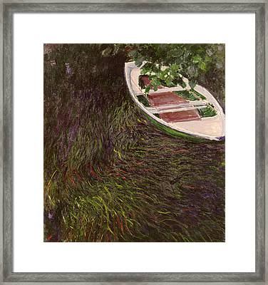 The Rowing Boat Framed Print by Claude Monet