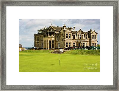 The Royal And Ancient Golf Club Of St Andrews Framed Print by MaryJane Armstrong